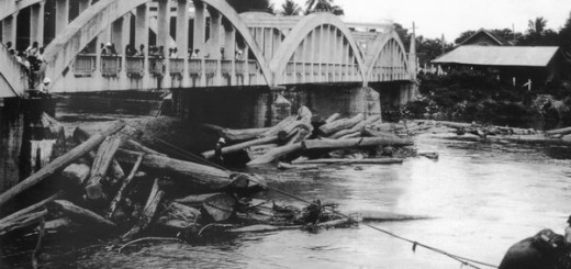 Rachadapisek Bridge with teak