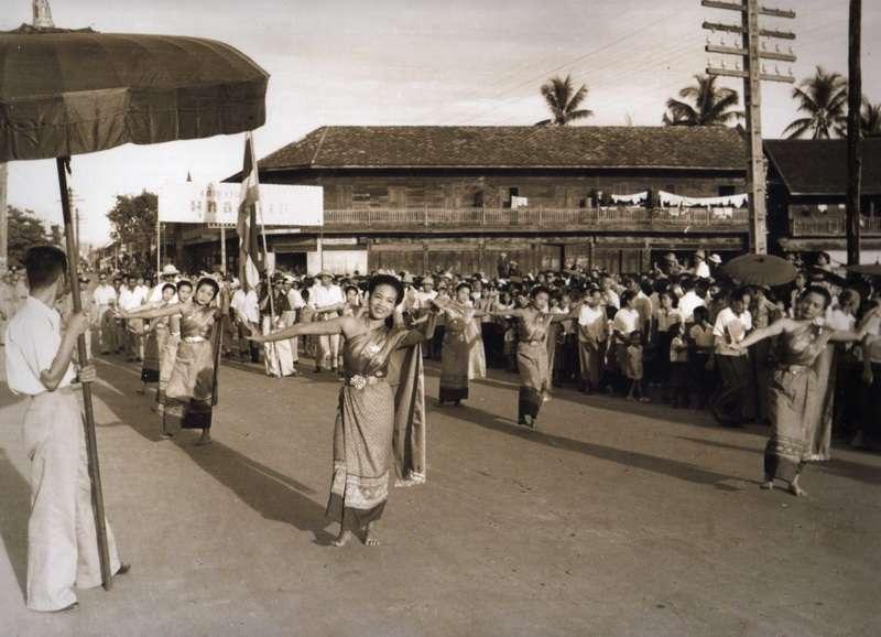 Songkran Parade at Thapae Plaza, 1950