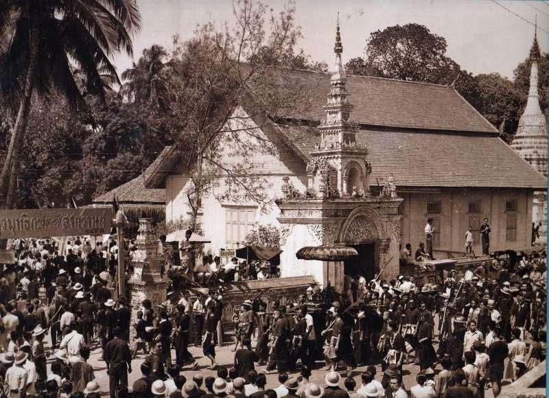 Burmese Wat Upakut. Songkran Festival