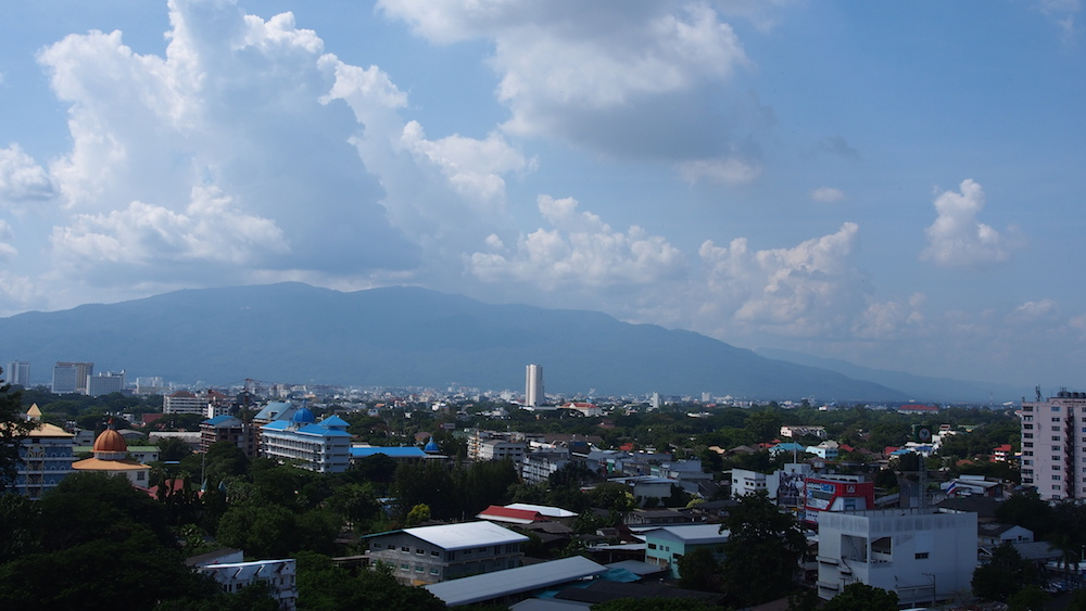 View on Doi Suthep from Poy Luang Hotel