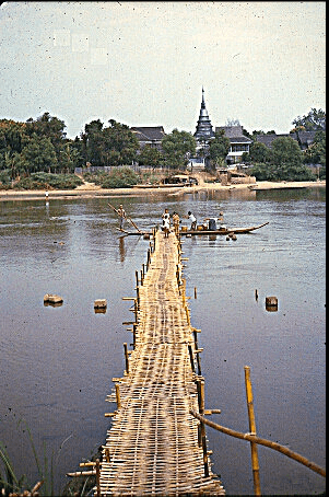 Bamboo bridge in the early 1960's. Picture by Kermit Krueger