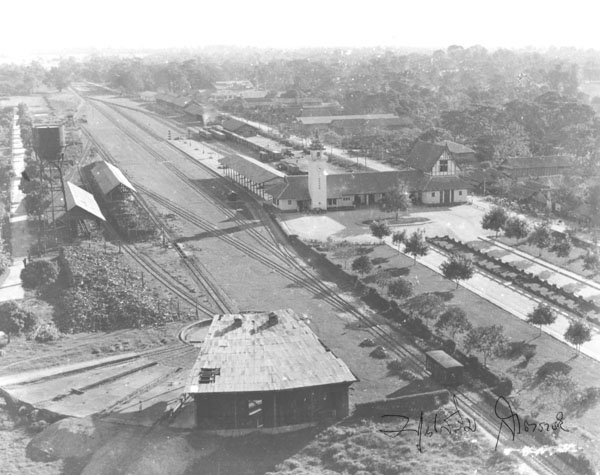 Aerial picture of the Chiang Mai Railway Station