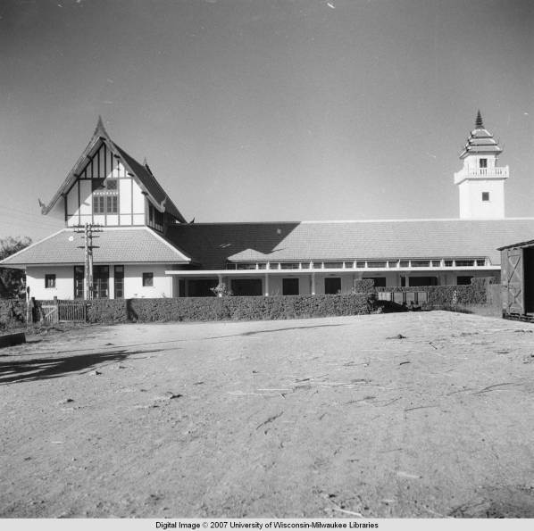 The back of the Chiang Mai Railway Station in 1950