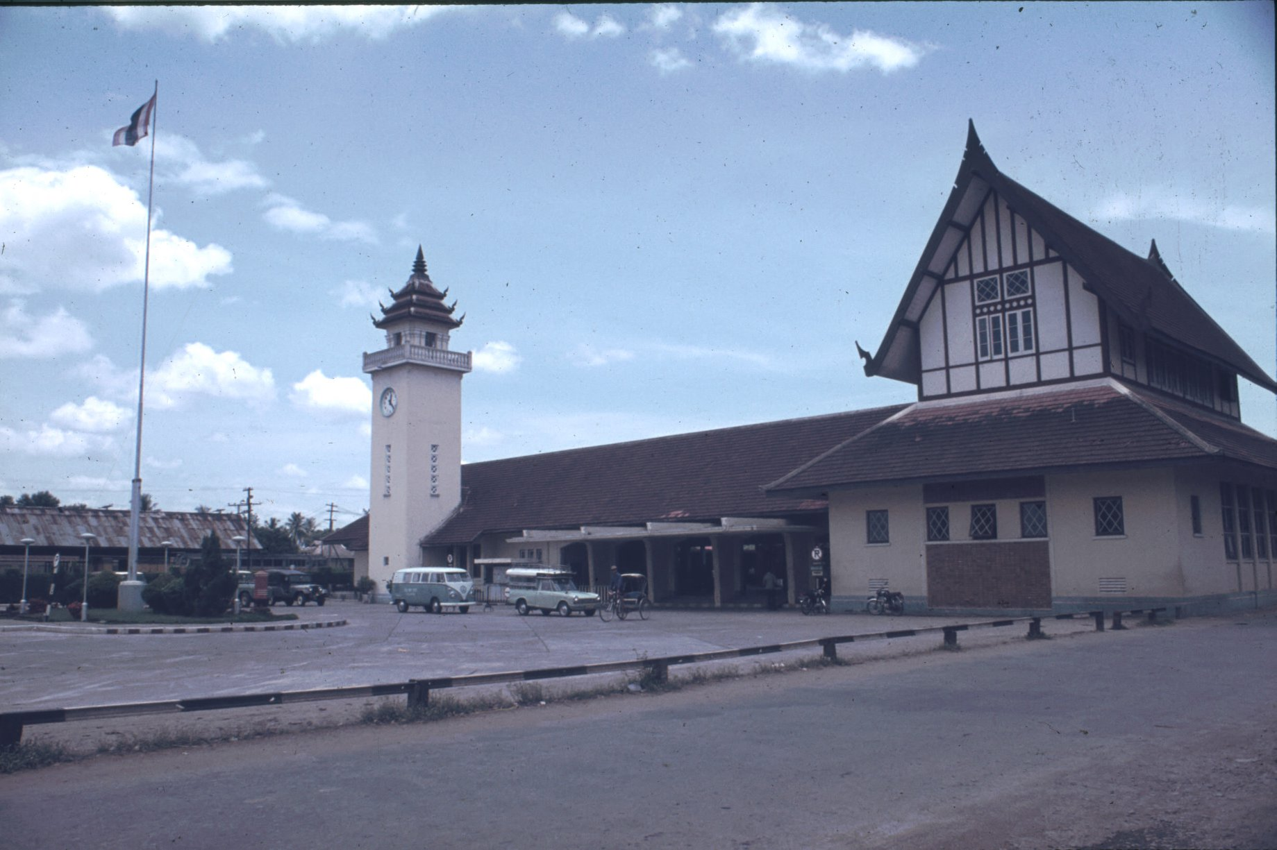 Front of the Chiang Mai Railway Station in 1972