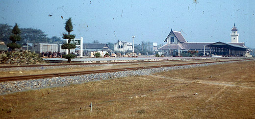 Chiang Mai Railway station by Wally Higgins 1959