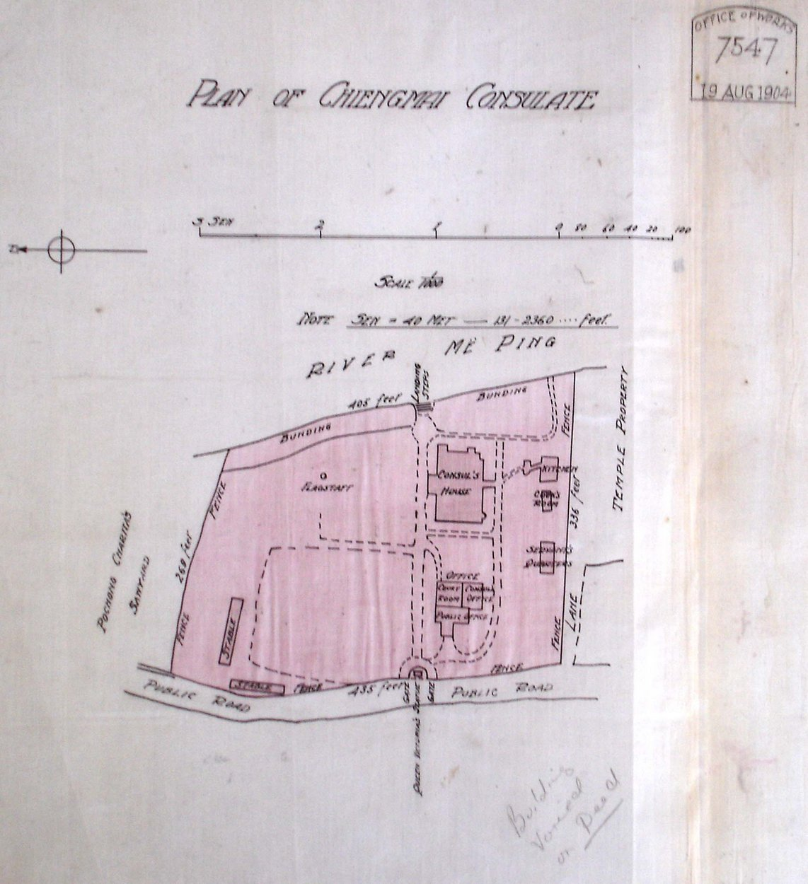 plan of the design of the Chiengmai British Consulate