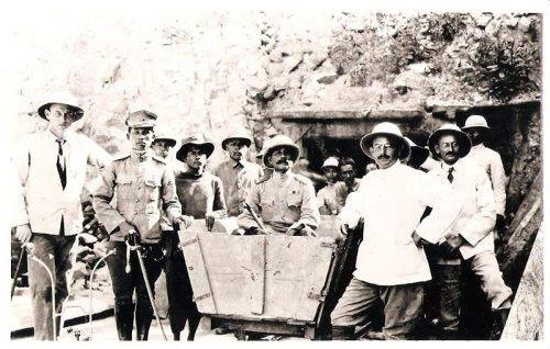 Engineers and workers at the Khuntan Tunnel