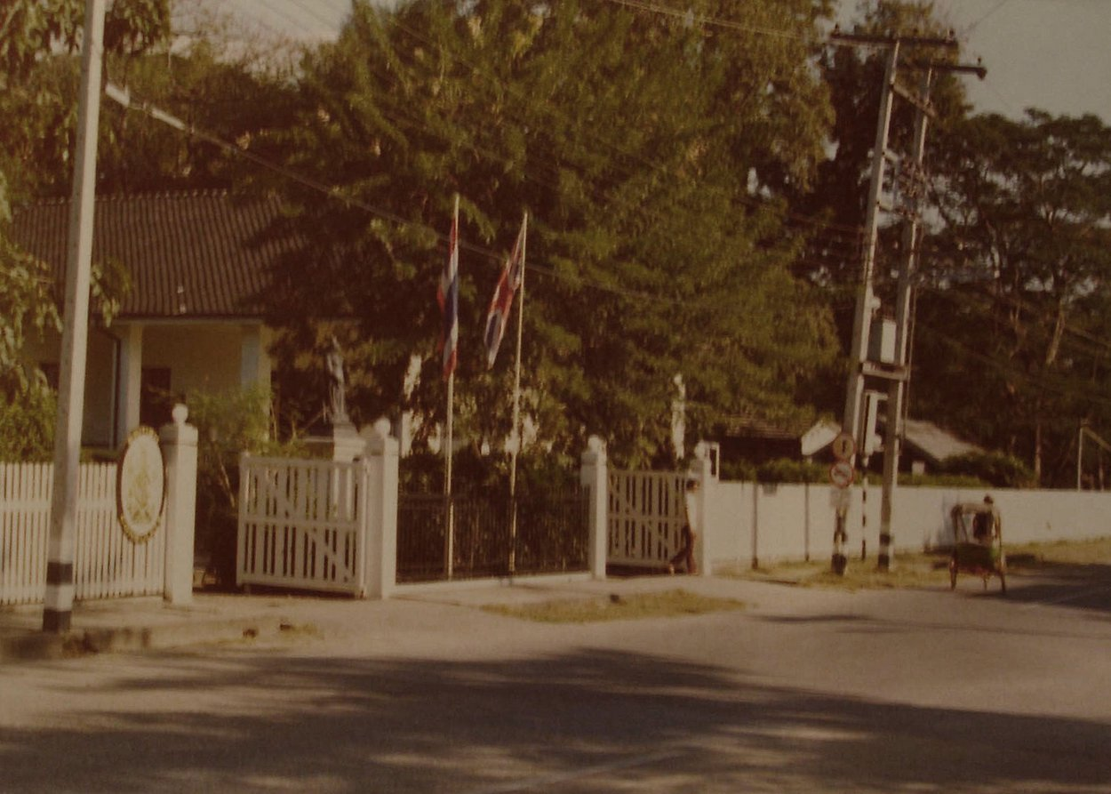 British consulate on Charoen Prathet Road in 1974.